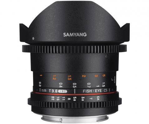 Обектив Samyang 8mm T3.8 Cine II UMC FishEye CS за Micro 4/3