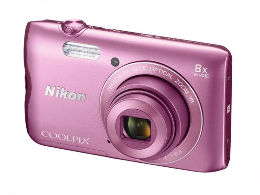 Фотоапарат Nikon Coolpix A300 Pink + 8GB SD карта + Калъф Case Logic PSL-16