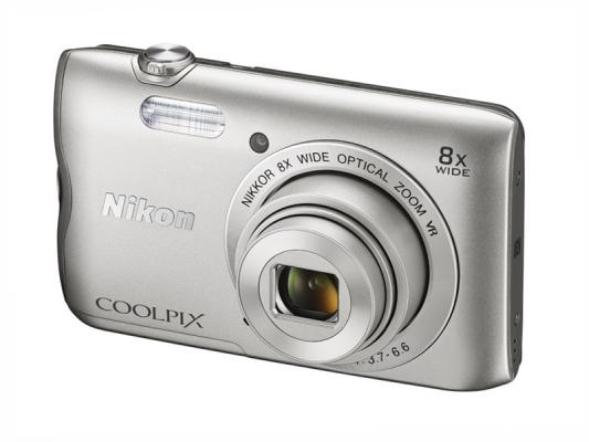 Фотоапарат Nikon Coolpix A300 Silver + 16GB SD карта + Калъф Case Logic PSL-16