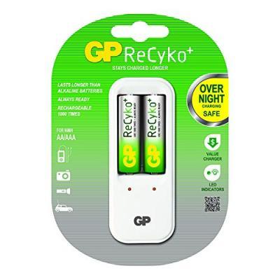 Зарядно усторйство GP + 2 бр. AA x 2100mAh батерии