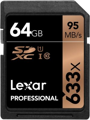 Памет SDXC Lexar Professional 633x (95MB/s) 64GB Class 10 (U1)