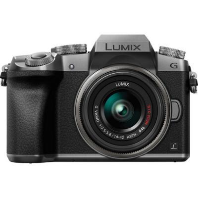 Фотоапарат Panasonic Lumix G7 Silver + обектив Panasonic 14-42mm f/3.5-5.6 II MEGA OIS