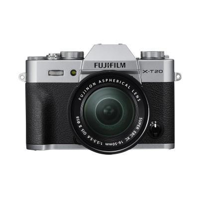 Фотоапарат Fujifilm X-T20 Silver тяло + Обектив Fujifilm Fujinon XC 16-50mm F/3.5-5.6 OIS + Батерия Hahnel Li-Ion HL-F126S (заместител на FujiFilm NP-W126S)