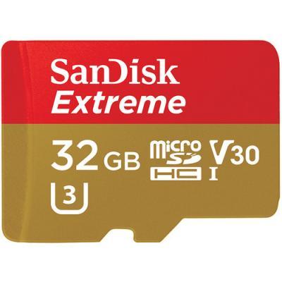 Памет Extreme microSDHC 32GB + Rescue Pro Deluxe 100MB/s A1 C10 V30 UHS-I U3