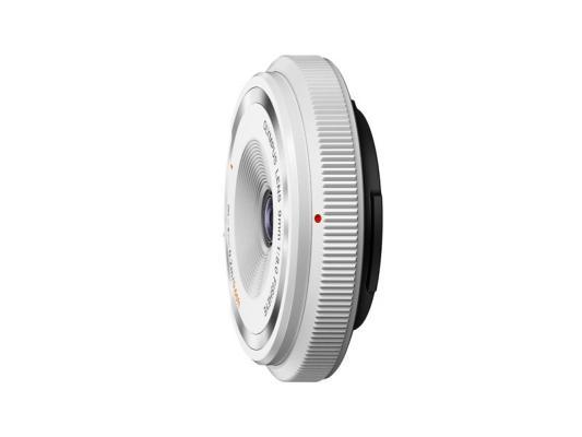 Обектив Olympus M.Zuiko 9mm f/8 Fisheye Body Cap Lens White
