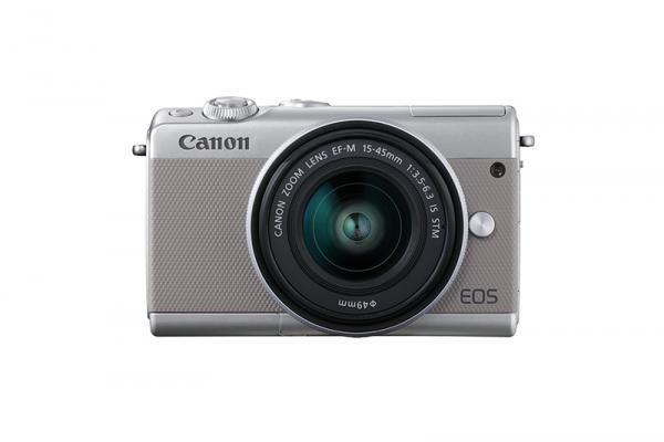 Фотоапарат Canon EOS M100 тяло + Обектив Canon EF-M 15-45mm f/3.5-6.3 IS STM Silver