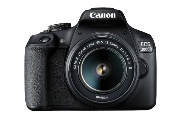 Фотоапарат Canon EOS 2000D тяло + Обектив Canon EF-s 18-55mm f/3.5-5.6 IS II + Памет SDHC SanDisk Ultra 32GB (80MB/s)