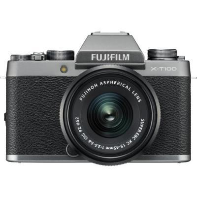 Фотоапарат Fujifilm X-T100 Dark Silver + Обектив Fujinon XC 15-45mm f/3.5-5.6 OIS PZ
