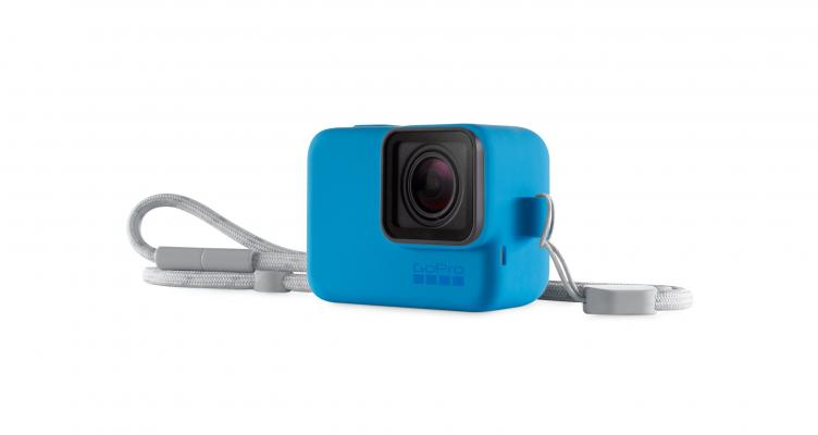 Калъф за GoPro Sleeve + Lanyard (син)