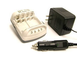 Зарядно устройство Maha/Powerex MH-C401FS + Акумулаторни батерии AA Powerex Precharged  2600mAh (4бр)