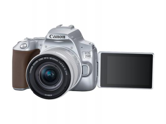 Фотоапарат Canon EOS 250D Silver тяло + Обектив Canon EF-S 18-55mm f4-5.6 IS STM