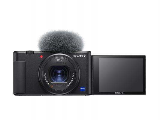 Фотоапарат за влогинг Sony ZV-1 + Ръкохватка Sony GP-VPT2BT за заснемане с безжичен дистанционен пулт за управление + Батерия Li-Ion Sony NP-BX1