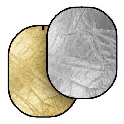 Отражателен диск Dynaphos 2 в 1 91х122 см Silver/Gold