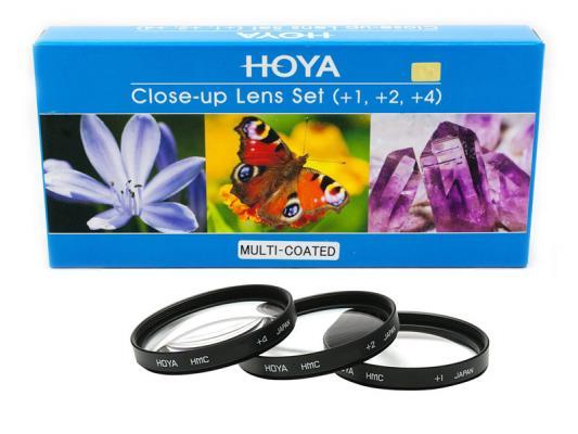 Комплект макро лещи Hoya HMC +1, +2, +4D 77mm