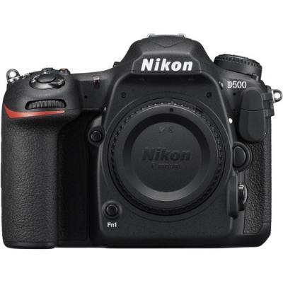 Фотоапарат Nikon D500 тяло + Ремък Nikon 100-TH Anniversary Premium Camera Strap (черен) + Обектив Nikon AF-S Nikkor 200–500mm f/5.6E ED VR