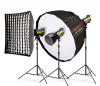 Комплект студийно осветление Speedster QT II 3x600 Premium - за Canon
