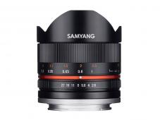 Обектив Samyang 8mm f/2.8 UMC Fish-eye II за Fujifilm X-mount (черен)