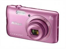 Фотоапарат Nikon Coolpix A300 Pink + 16GB SD карта + Калъф Case Logic PSL-16