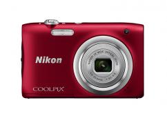 Фотоапарат Nikon Coolpix A100 Red + Калъф Case Logic PSL-16 + Памет SDHC Lexar Premium II 300x (45MB/s) 8GB Class 10 (U1)
