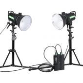 Студийна светкавица Phottix Indra 500 TTL Studio Light Dual + Battery pack
