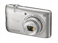 Фотоапарат Nikon Coolpix A300 Silver + 16GB SD карта + Калъф Case Logic PSL-16