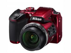 Фотоапарат Nikon Coolpix B500 Red + Зарядно устройство Panasonic Eneloop с батерии AA 1900mAh (LR06) 4бр