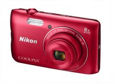 Фотоапарат Nikon Coolpix A300 Red + Калъф Case Logic PSL-16 + Памет SDHC Lexar Premium II 300x (45MB/s) 8GB Class 10 (U1)