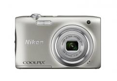 Фотоапарат Nikon Coolpix A100 Silver + 16GB SD карта + Калъф Case Logic PSL-16