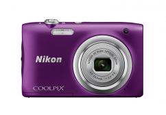 Фотоапарат Nikon Coolpix A100 Purple + Калъф Case Logic PSL-16 + Памет SDHC Lexar Premium II 300x (45MB/s) 8GB Class 10 (U1)