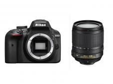Фотоапарат Nikon D3400 Black тяло + Обектив Nikon AF-S DX Nikkor 18-105mm f/3.5-5.6G ED VR  + Чанта Nikon CF-EU 11