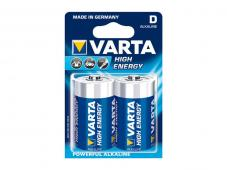 Алкална батерия VARTA High Energy D-LR20 (2бр.)