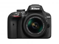 Фотоапарат Nikon D3400 Black тяло + Обектив Nikon AF-P DX Nikkor 18-55mm f/3.5-5.6G VR  + Комплект Nikon DSLR Accessory Kit 3in1 (CF-EU11 Bag + EN-EL14a + 16GB SD)