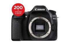 Фотоапарат Canon 80D тяло + Canon EOS Accessory KIT (Чанта, памет 8GB, почистваща кърпичка)