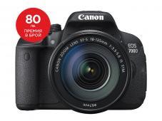 Фотоапарат Canon 700D тяло + Обектив Canon EF-s 18-135mm f/3.5-5.6 IS STM + Canon EOS Accessory KIT (Чанта, памет 8GB, почистваща кърпичка)
