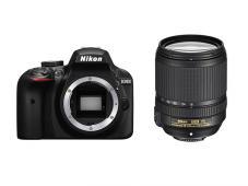 Фотоапарат Nikon D3400 Black тяло + Обектив Nikon AF-S DX Nikkor 18-140mm f/3.5-5.6G ED VR + Чанта Nikon CF-EU 11