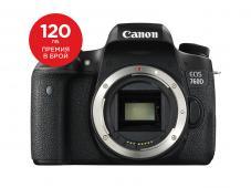 Фотоапарат Canon EOS 760D тяло + Canon EOS Accessory KIT (Чанта, памет 8GB, почистваща кърпичка)