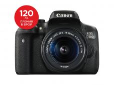 Фотоапарат Canon EOS 750D тяло + Обектив Canon EF-S 18-55mm f3.5-5.6 IS STM + Canon EOS Accessory KIT (Чанта, памет 8GB, почистваща кърпичка)