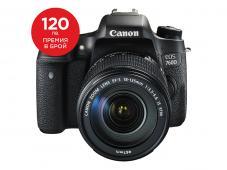 Фотоапарат Canon EOS 760D тяло Обектив Canon EF-S 18-135mm f/3.5-5.6 IS (STM) + Canon EOS Accessory KIT (Чанта, памет 8GB, почистваща кърпичка)