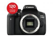 Фотоапарат Canon EOS 750D тяло + Canon EOS Accessory KIT (Чанта, памет 8GB, почистваща кърпичка)
