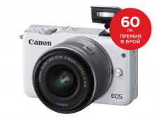 Фотоапарат Canon EOS M10 White kit (EF-M 15-45mm IS STM)