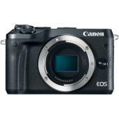 Фотоапарат Canon EOS M6 тяло Black  + Адаптер Canon EF-EOS M