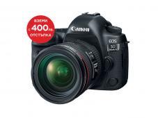 Фотоапарат Canon 5D Mark IV + Canon 24-70mm f/4L IS + Алуминиев статив с ябълковидна глава Manfrotto 190XPRO3-BHQ2