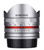 Обектив Samyang 8mm f/2.8 UMC Fish-eye II Silver за Sony E-mount (сребрист)