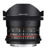 Обектив Samyang 12mm T3.1 VDSLR ED AS NCS Fish-Eye за Canon