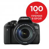 Фотоапарат Canon EOS 750D тяло + Обектив Canon EF-S 18-135mm f/3.5-5.6 IS (STM)
