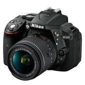 Фотоапарат Nikon D5300 Black тяло + Обектив Nikon AF-P DX Nikkor 18-55mm f/3.5-5.6G VR + Комплект Nikon DSLR Accessory Kit 3in1 (CF-EU11 Bag + EN-EL14a + 16GB SD)