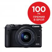 Фотоапарат Canon EOS M3 Black тяло + Обектив Canon EF-M 15-45mm f/3.5-6.3 IS STM