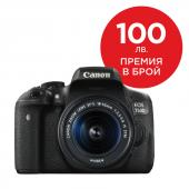 Фотоапарат Canon EOS 750D тяло + Обектив Canon EF-S 18-55mm f3.5-5.6 IS STM