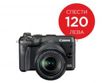 Фотоапарат Canon EOS M6 тяло Black + Обектив Canon EF-M 18-150mm f/3.5-6.3 IS STM + Адаптер Canon EF-EOS M