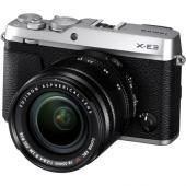 Фотоапарат Fujifilm X-E3 Сребрист тяло + Обектив Fujifilm Fujinon XF 18-55F/2.8-4 R LM ОIS